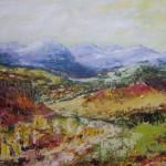1. landschap olieverf op doek
