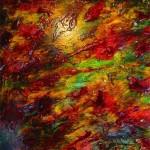 14. Kleurig Abstract' ecoline-inkt