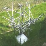 18. 'Ontwerp voor rotonde of plein'materiaal RVS