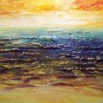 20. 'Landschap' acryl met paletmes