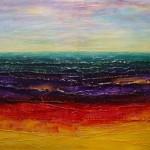 21. ' Kleurrijk landschap'acryl