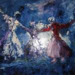 3. 'Dansende mensen' olieverf (archief)