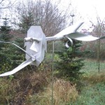 3. 'Vogelverschrikker' materiaal van RVS