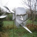 4. 'Vogelverschrikker' materiaal van RVS
