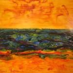 66. 'Landschap' ecoline- inkt