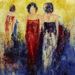 7. ' Groep vrouwen' olieverf